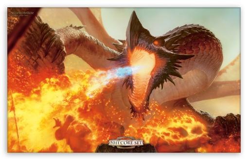 Magic Touch 3d Wallpaper Fire Dragon Painting 4k Hd Desktop Wallpaper For