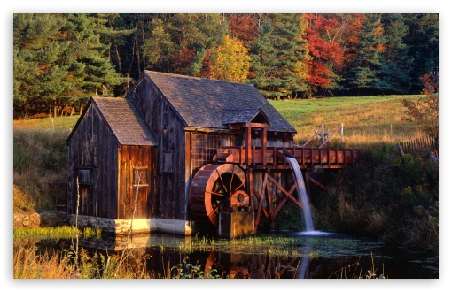 Uhd Wallpapers Fall Gristmill Guilford Vermont 4k Hd Desktop Wallpaper For