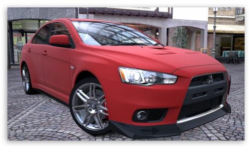 Car Wallpaper For Tablet Lancer Evolution X Red Matte 4k Hd Desktop Wallpaper For