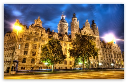 Spain Wallpaper Iphone Leipzig At Night Hdr 4k Hd Desktop Wallpaper For 4k Ultra