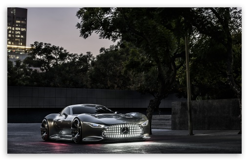 Car And Girl Iphone Wallpaper Mercedes Benz Amg Vision Gran Turismo Evening 4k Hd