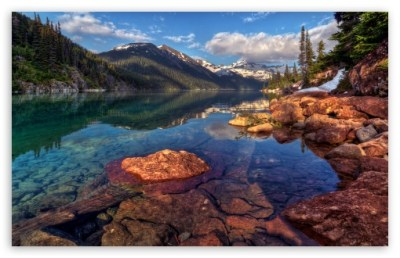 Mountain Lake With Clear Water 4K HD Desktop Wallpaper for 4K Ultra HD TV • Dual Monitor ...