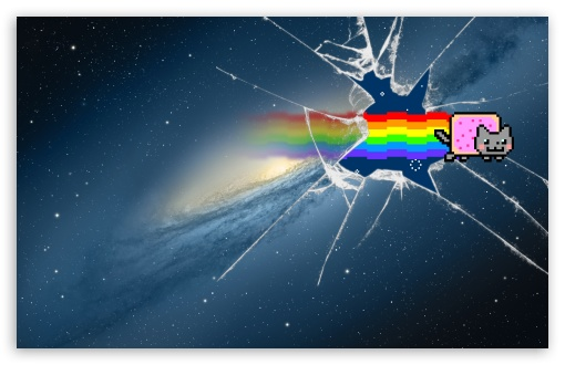 Iphone Broken Screen Wallpaper Hd Mountain Lion Nyan Cat 4k Hd Desktop Wallpaper For 4k