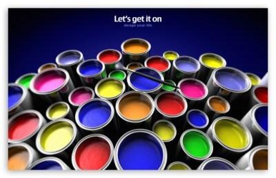 Paint Buckets 4K HD Desktop Wallpaper for 4K Ultra HD TV • Dual Monitor Desktops • Tablet ...