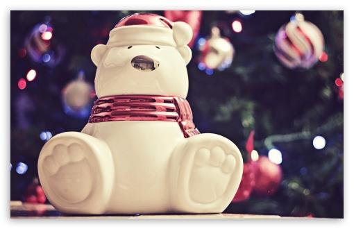 Bear Wallpaper Iphone Polar Bear Christmas Decoration 4k Hd Desktop Wallpaper