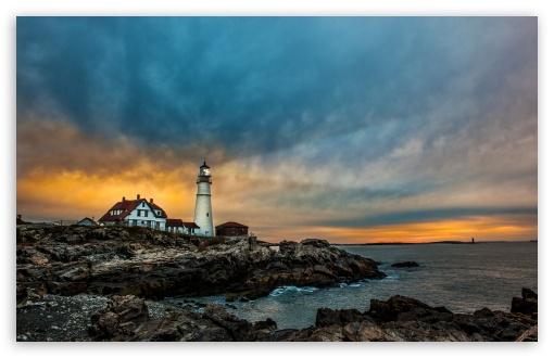 Windows 10 Fall Usa Wallpapers 4k Portland Head Light Lighthouse 4k Hd Desktop Wallpaper For