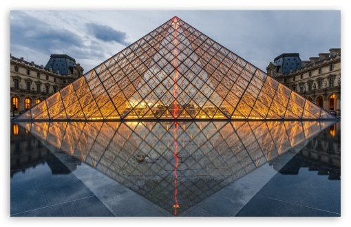 Paris Iphone Wallpaper Hd Pyramid Of The Louvre Paris France Europe 4k Hd Desktop