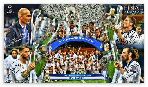 Zidane Iphone Wallpaper Real Madrid Champions League Winners 2016 4k Hd Desktop
