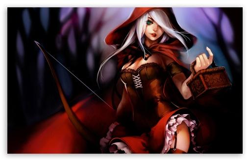 Red Hair Girl Wallpaper Hd Red Riding Hood Illustration 4k Hd Desktop Wallpaper For