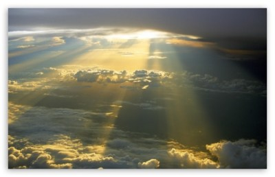 Sun Rays Through The Clouds 4K HD Desktop Wallpaper for 4K Ultra HD TV • Wide & Ultra Widescreen ...