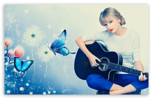 Guitar Girl Wallpaper Iphone Taylor Swift Playing Guitar 4k Hd Desktop Wallpaper For 4k