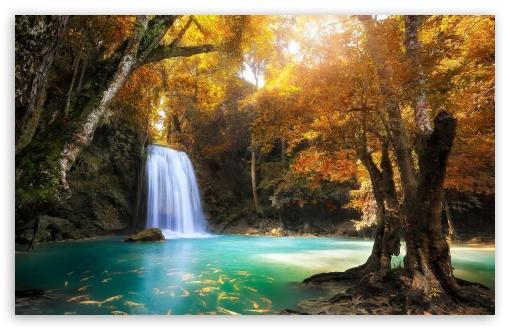 Full Screen Fall Wallpaper Waterfall 4k Hd Desktop Wallpaper For 4k Ultra Hd Tv