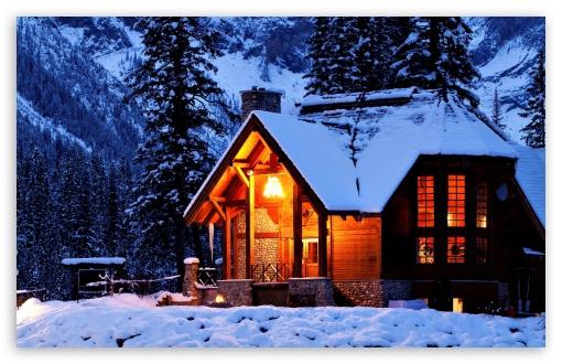 Snow Falling Wallpaper For Ipad Winter House 4k Hd Desktop Wallpaper For 4k Ultra Hd Tv