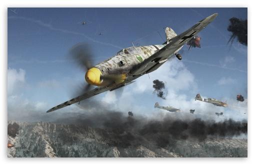 Airbus Iphone Wallpaper Yak 9u Vs Bf109g 6 4k Hd Desktop Wallpaper For Wide