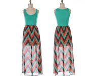 Green And Black Color Block Dress 15 Background ...