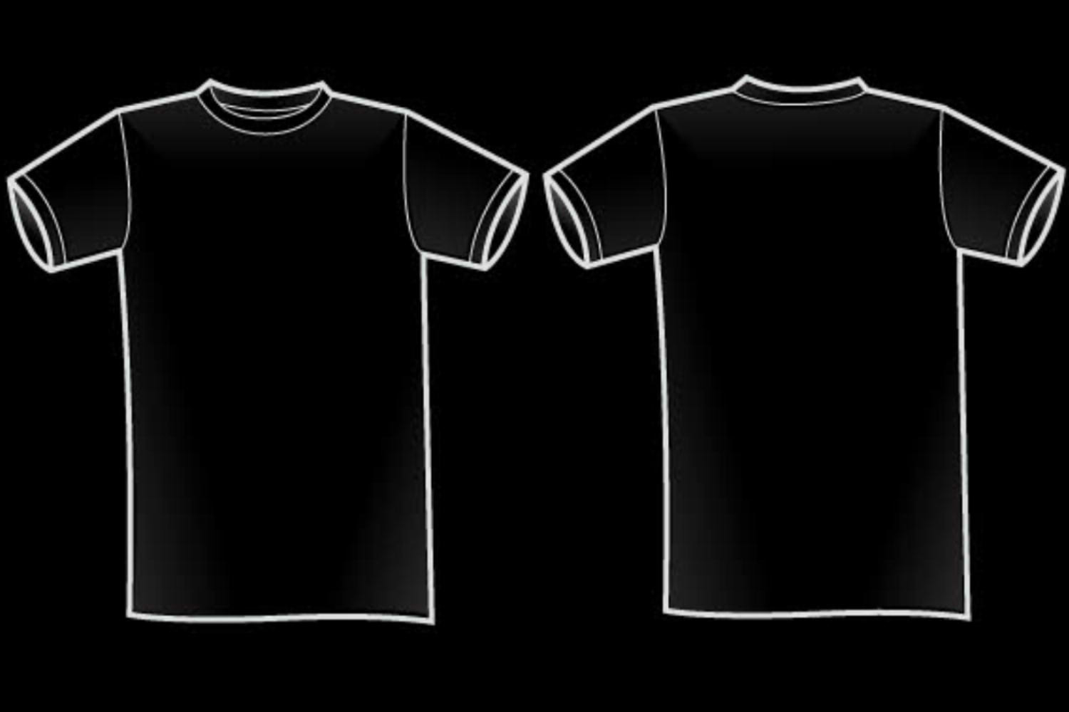 Black t shirt vector front and back - Plain Black T Shirt 36 Widescreen Wallpaper