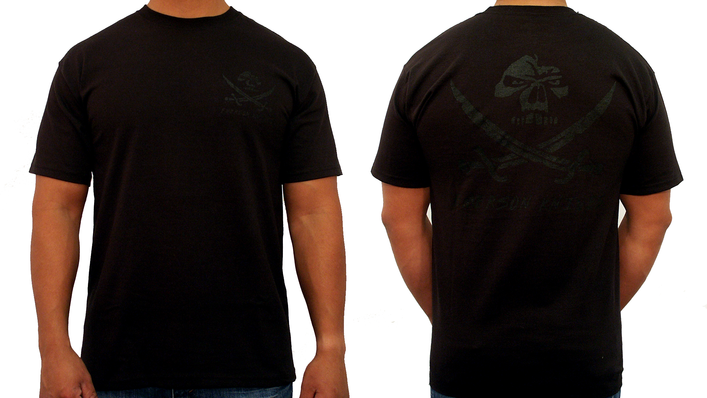 Black T Shirt Back And Front Plain