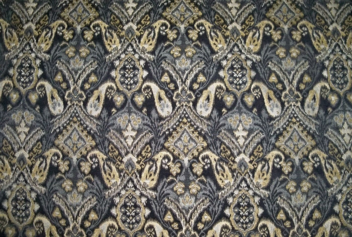 Purple And Black Damask Wallpaper Black And Silver Fabric 25 Wide Wallpaper
