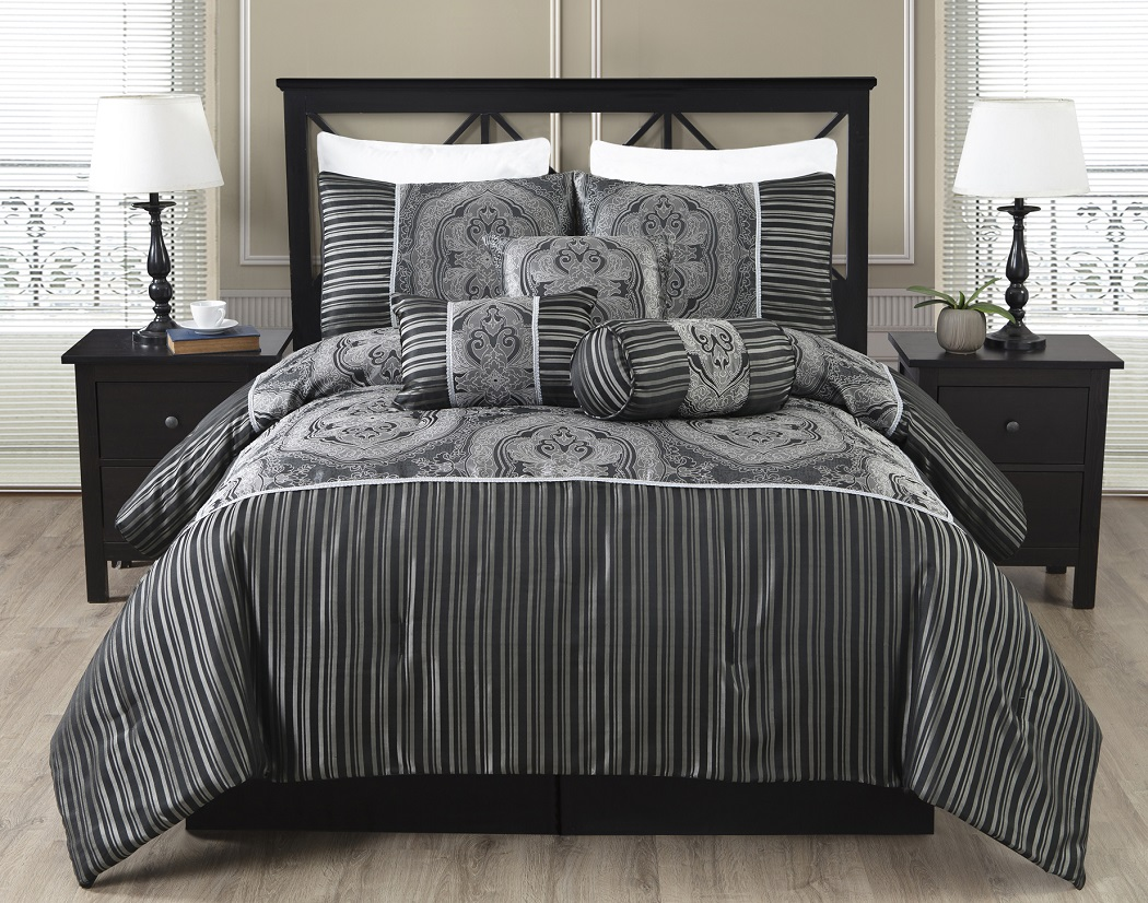Black And Silver Bed Black And Silver Bedroom Set 10 Background Wallpaper