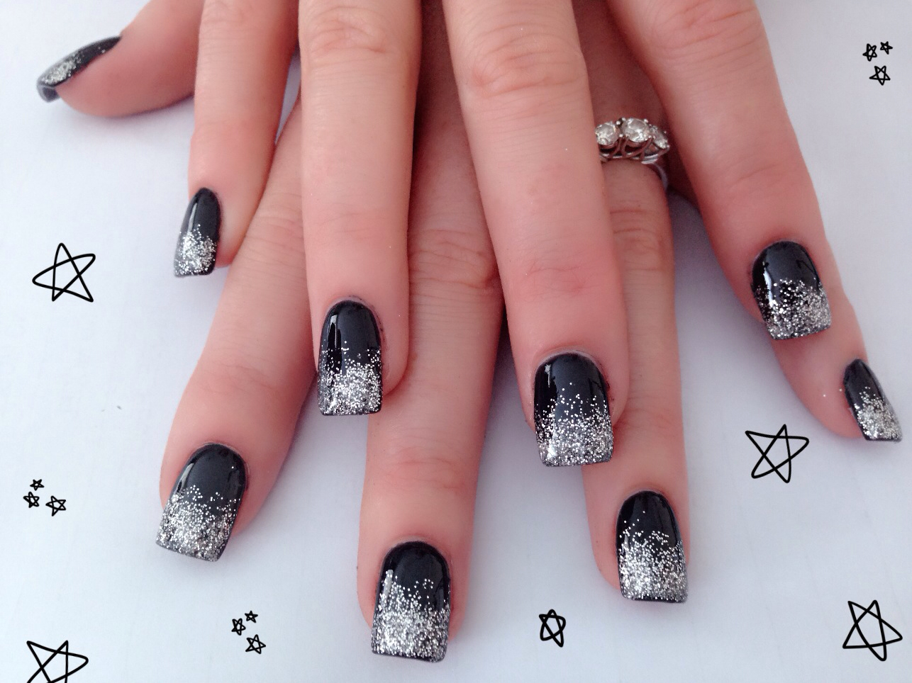 Black Wallpaper Galaxy S4 Black And Silver Nail Designs 7 Free Hd Wallpaper