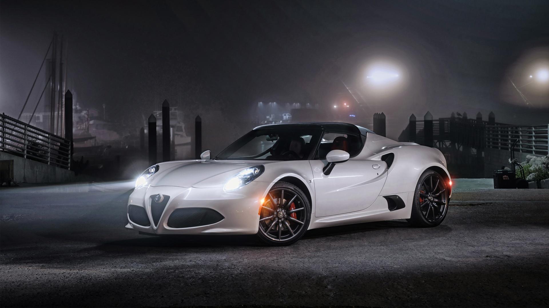 Racing Car Hd Wallpaper Free Download Alfa Romeo 4c 2015 Spider Hd Desktop Wallpapers 4k Hd