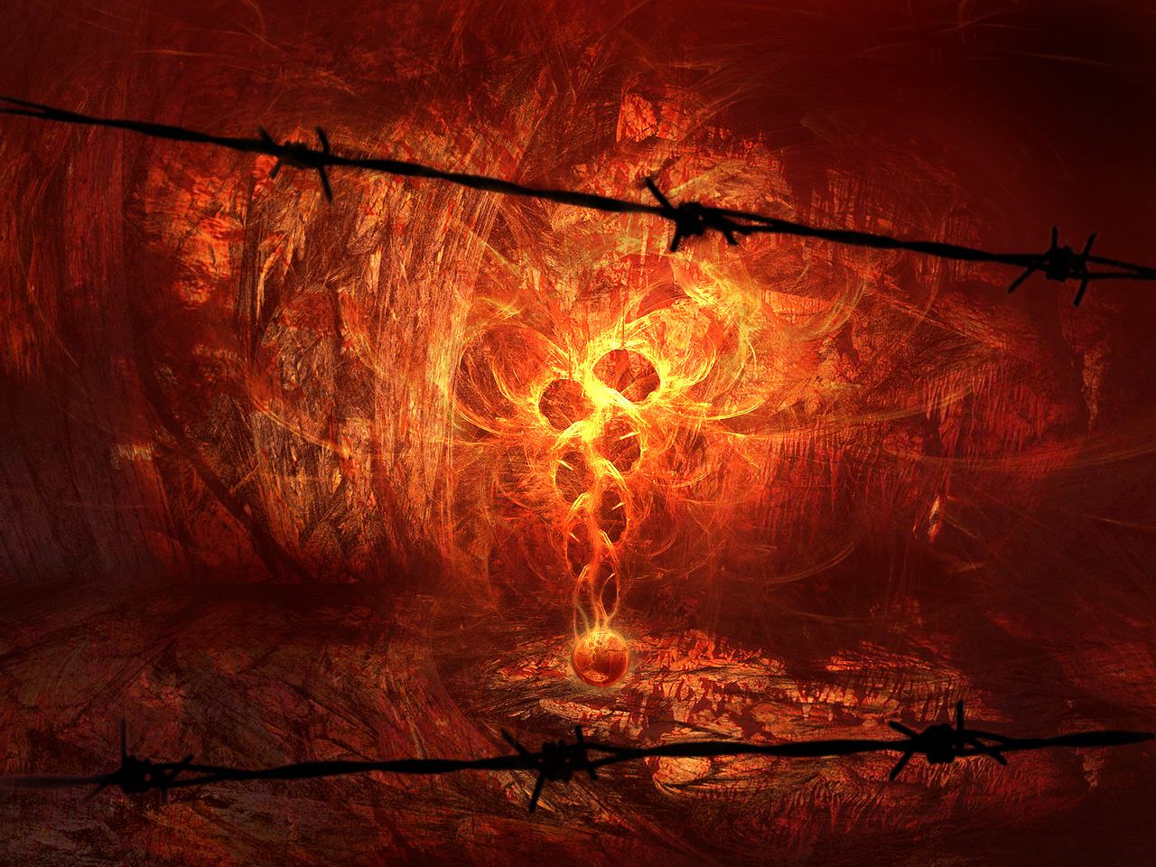 Fire Wallpaper Black Magic Hd Desktop Wallpapers 4k