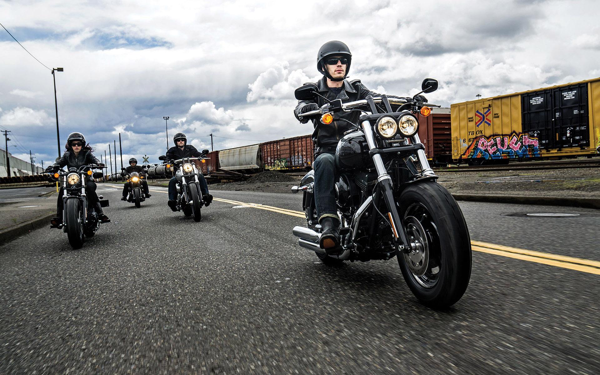 Muscle Cars Wallpapers 1080p Harley Davidson Wallpaper Fxdf Fat Bob Hd Desktop