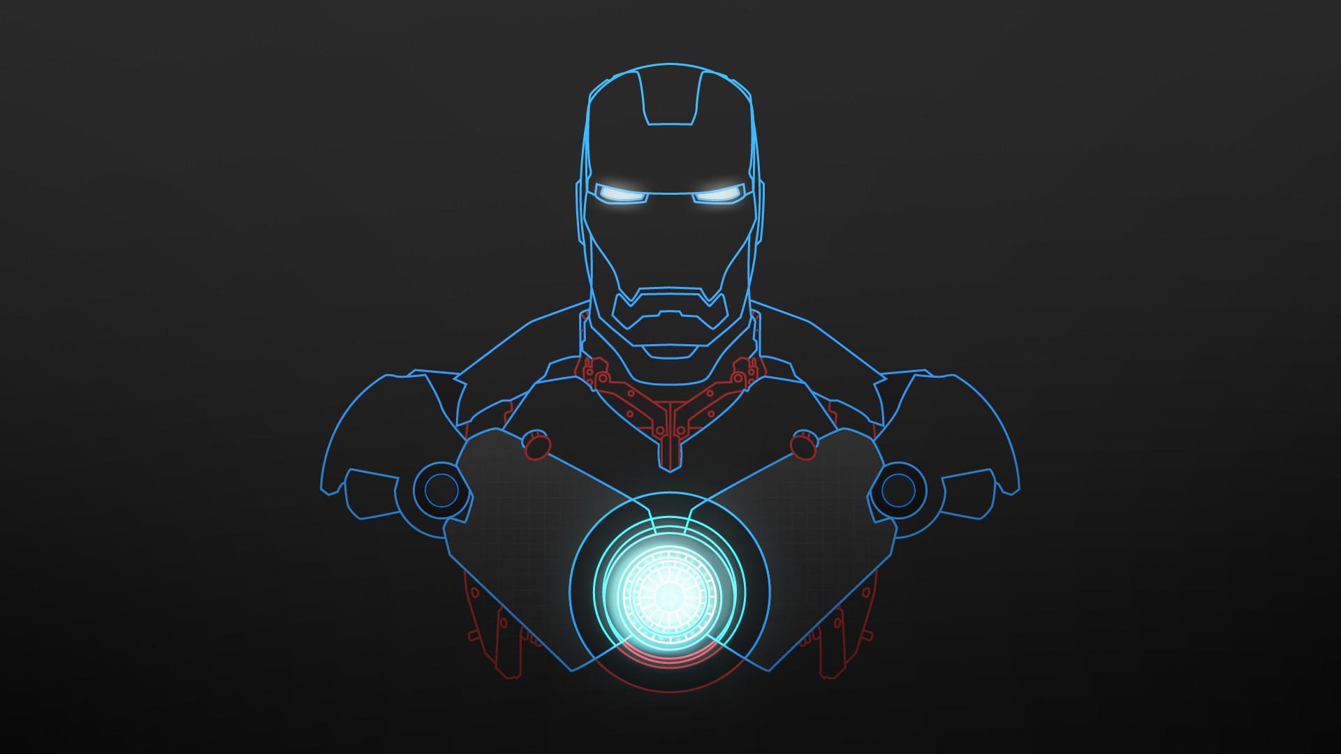 3d Wallpaper Iron Man Wallpaper Blue Sketch Hd Desktop Wallpapers 4k Hd