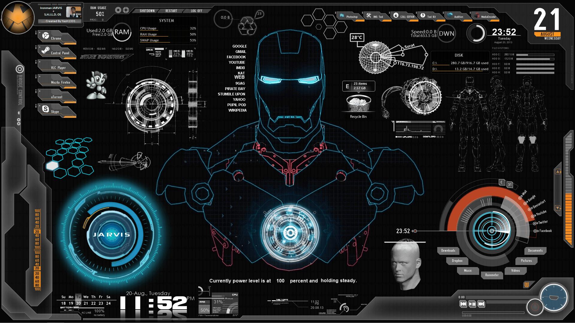 So Cute Name Wallpaper Iron Man Wallpaper Jarvis Desktop Hd Desktop Wallpapers