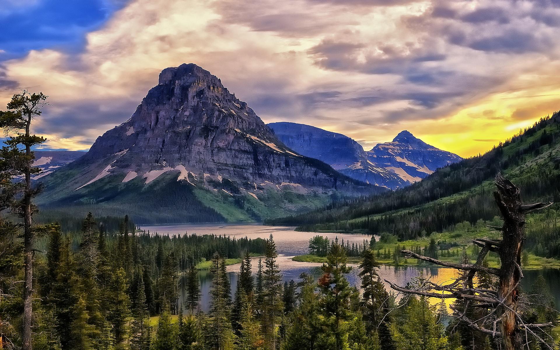 Free Live Fall Wallpapers For Desktop Lake Glacier Park Hd Desktop Wallpapers 4k Hd