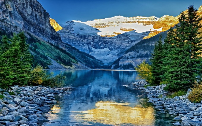 Spring 3d Live Wallpaper Lake Louise Hd Desktop Wallpapers 4k Hd