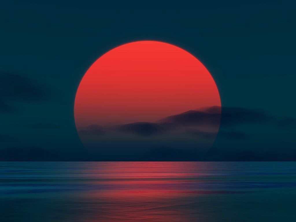 Wallpaper Fall Minimal Red Sun Wallpapers Hd Desktop Wallpapers 4k Hd