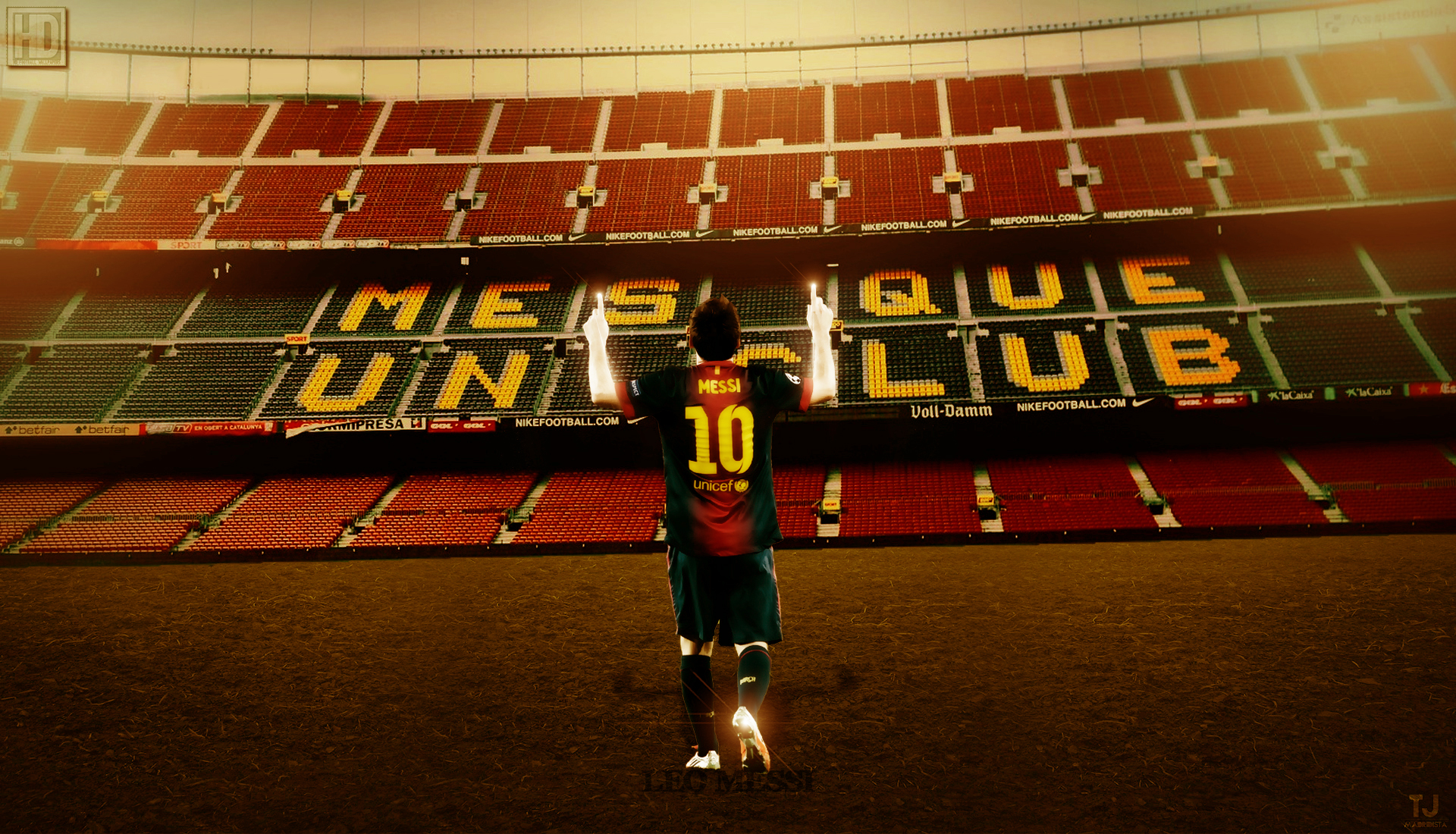 Barcelona Mes Lionel Messi | Hd Football Wallpapers