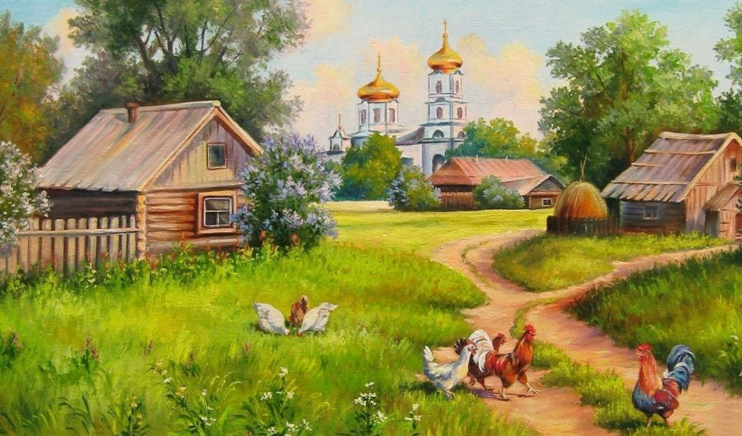 3d Animated Wallpapers For Mobile Free Download Painting House Of Village Wallpaper Hd Wallpaper