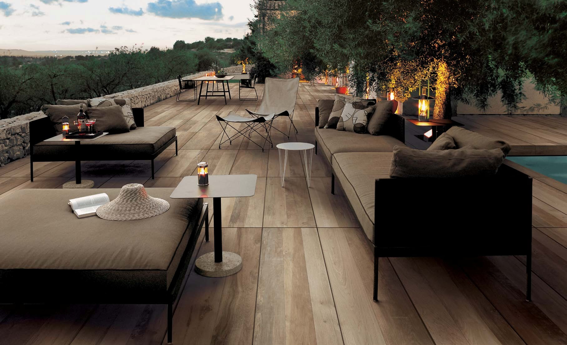 Patio In Legno Hdg Legno Wood Finish Pavers Orinda Light Hdg Building Materials
