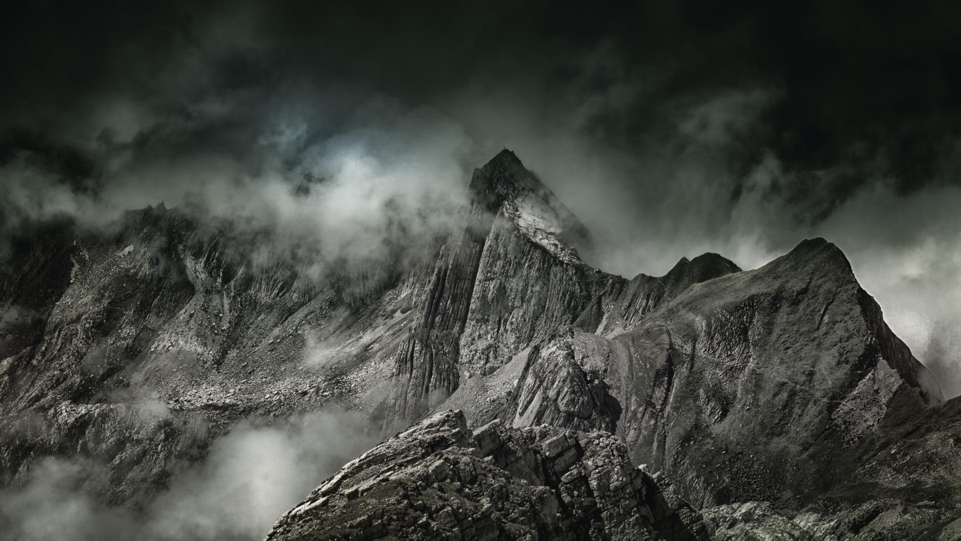 Hd Wallpaper Natur Hd Hintergrundbilder Nebel Gipfel Berge Desktop Hintergrund