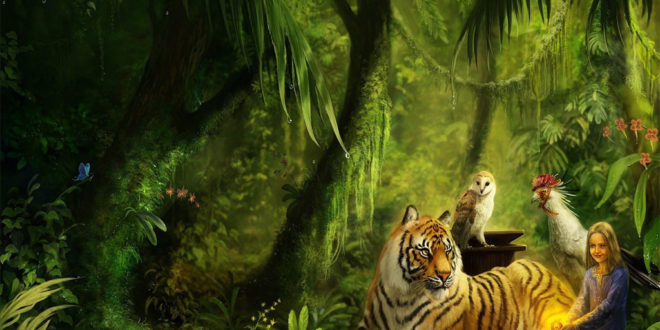 3d Wolves Wallpapers Tiger Amp Girl In Jungle Hd Wallpaper Hd Latest Wallpapers