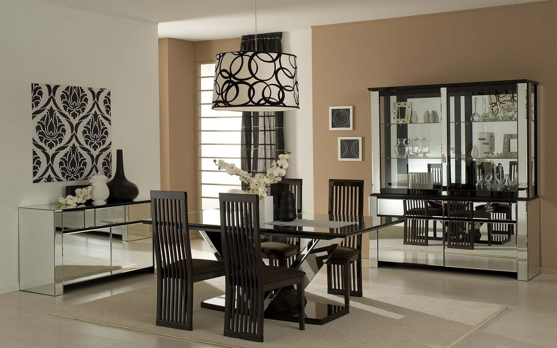 Dining Room Black And White Black And White Dining Room Hd Wallpaper Hd Latest