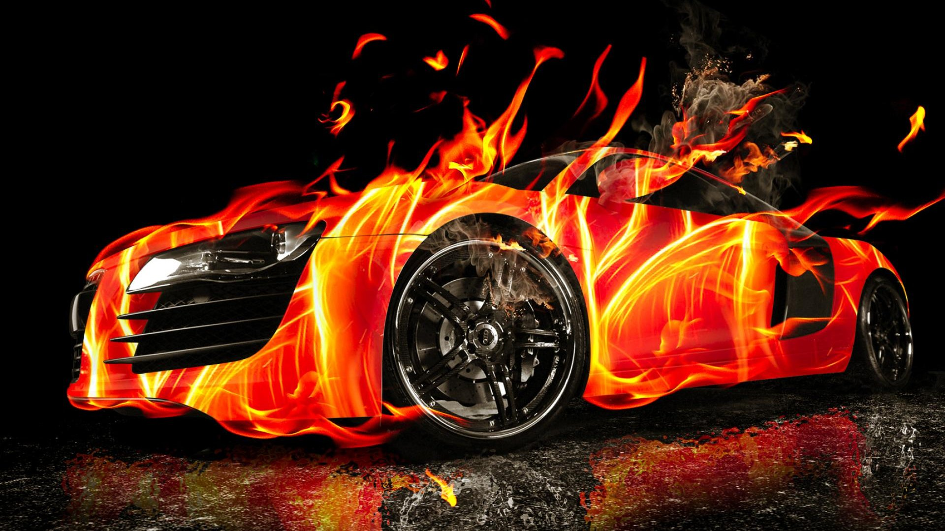 3d Car Wallpaper 3d Car On Fire Hd Wallpaper Hd Latest Wallpapers