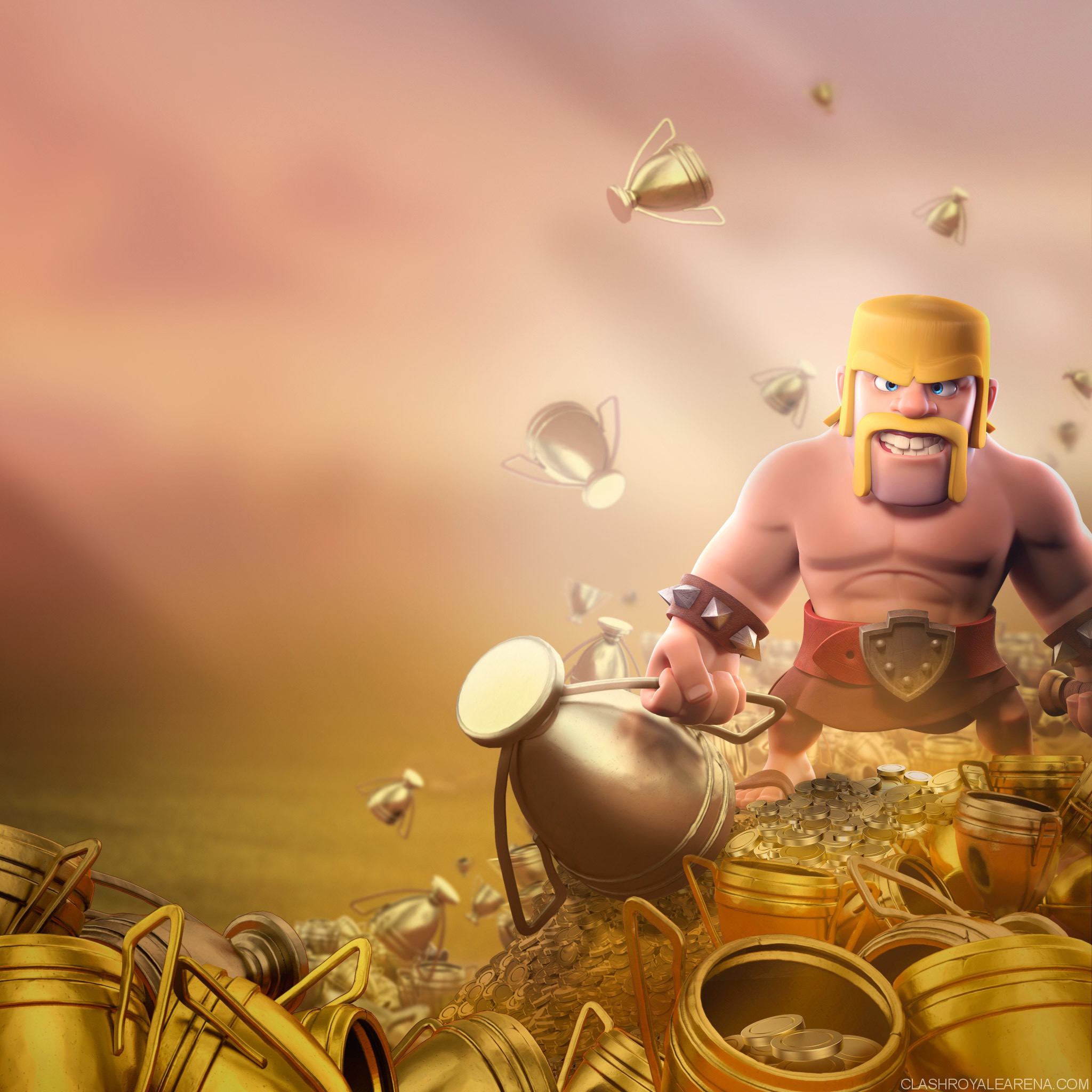 Wallpaper Clash Of Clans 3d Barbarian Clash Of Clans Hd Hd Games 4k Wallpapers