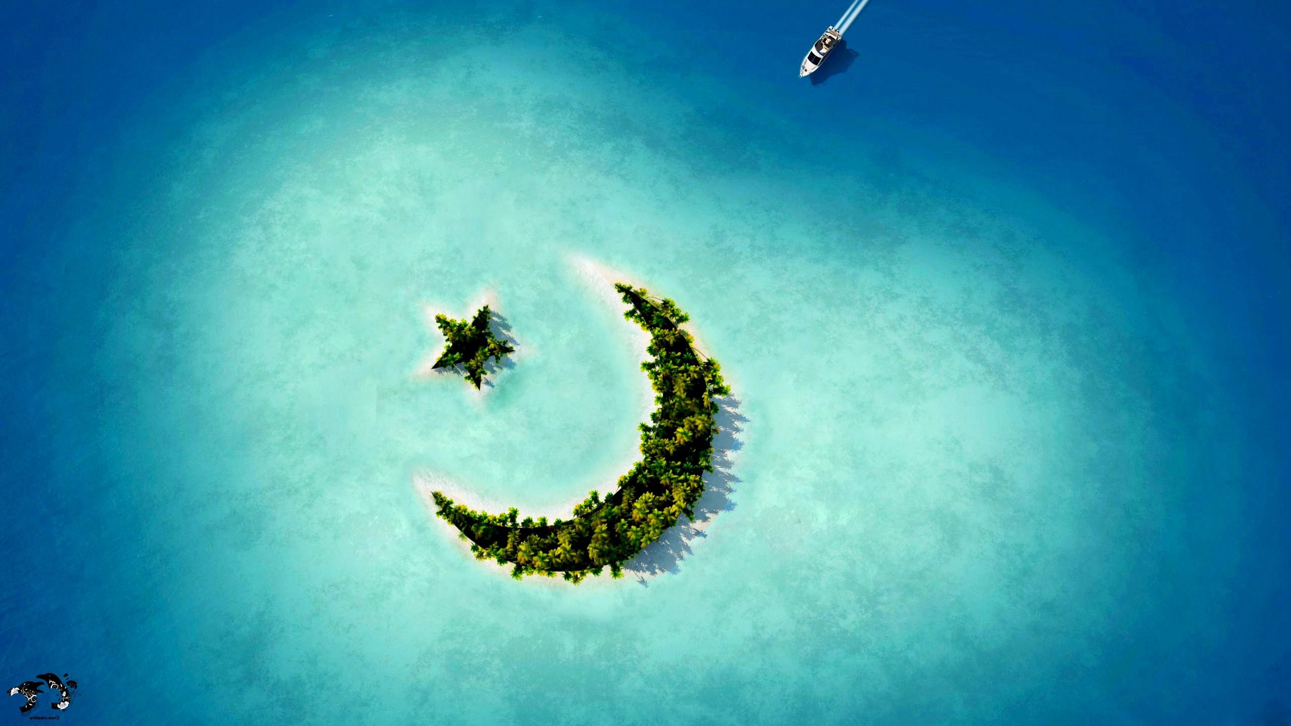 3d Wallpaper Anime Crescent Moon Star Island Hd Nature 4k Wallpapers