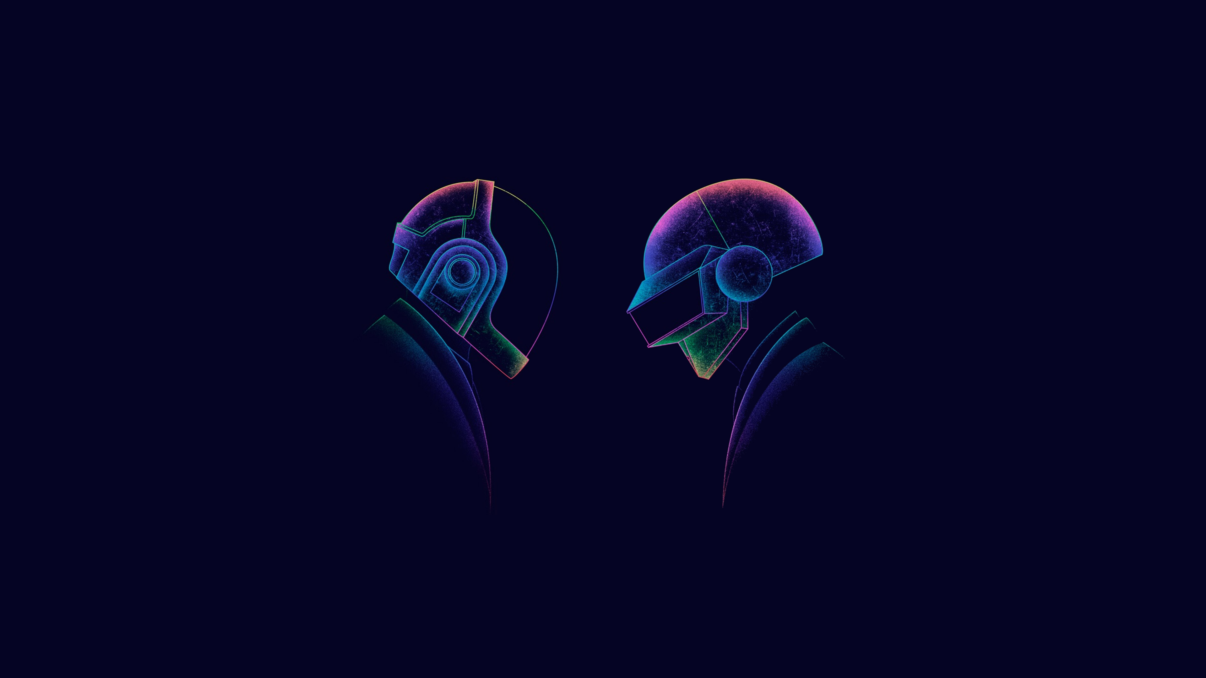 Anime Dj Wallpaper Daft Punk Minimalism 3 Hd Music 4k Wallpapers Images