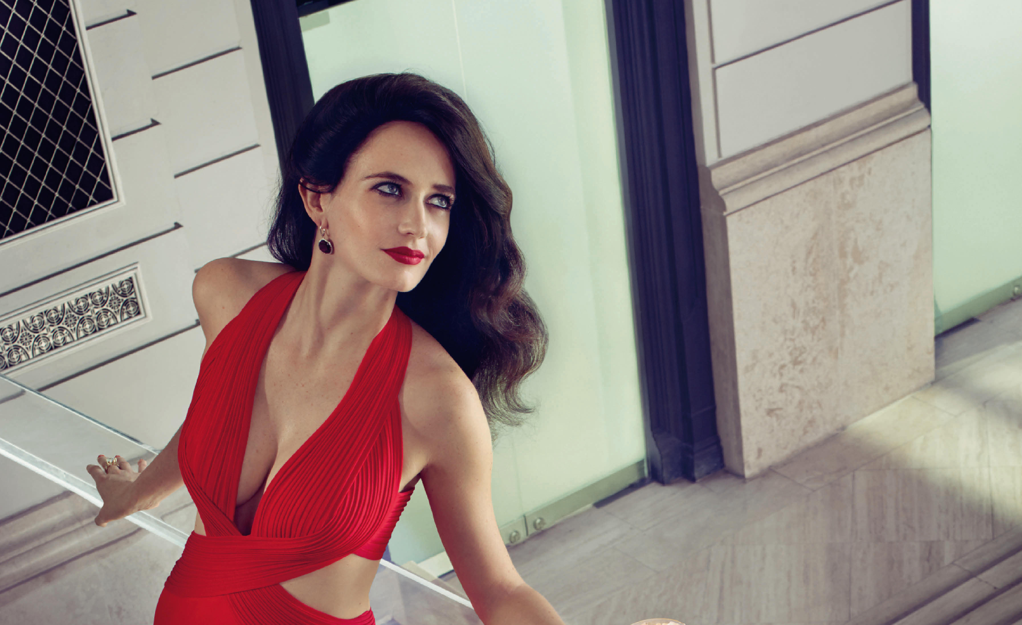 3d Wallpaper For Mobile 480x800 Eva Green Hot In Red 4k Hd Celebrities 4k Wallpapers