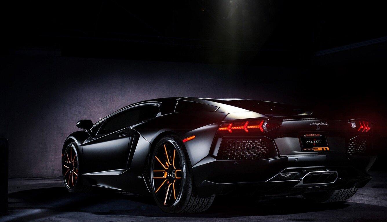 Car Logo Wallpapers For Mobile 1336x768 Lamborghini Black Laptop Hd Hd 4k Wallpapers