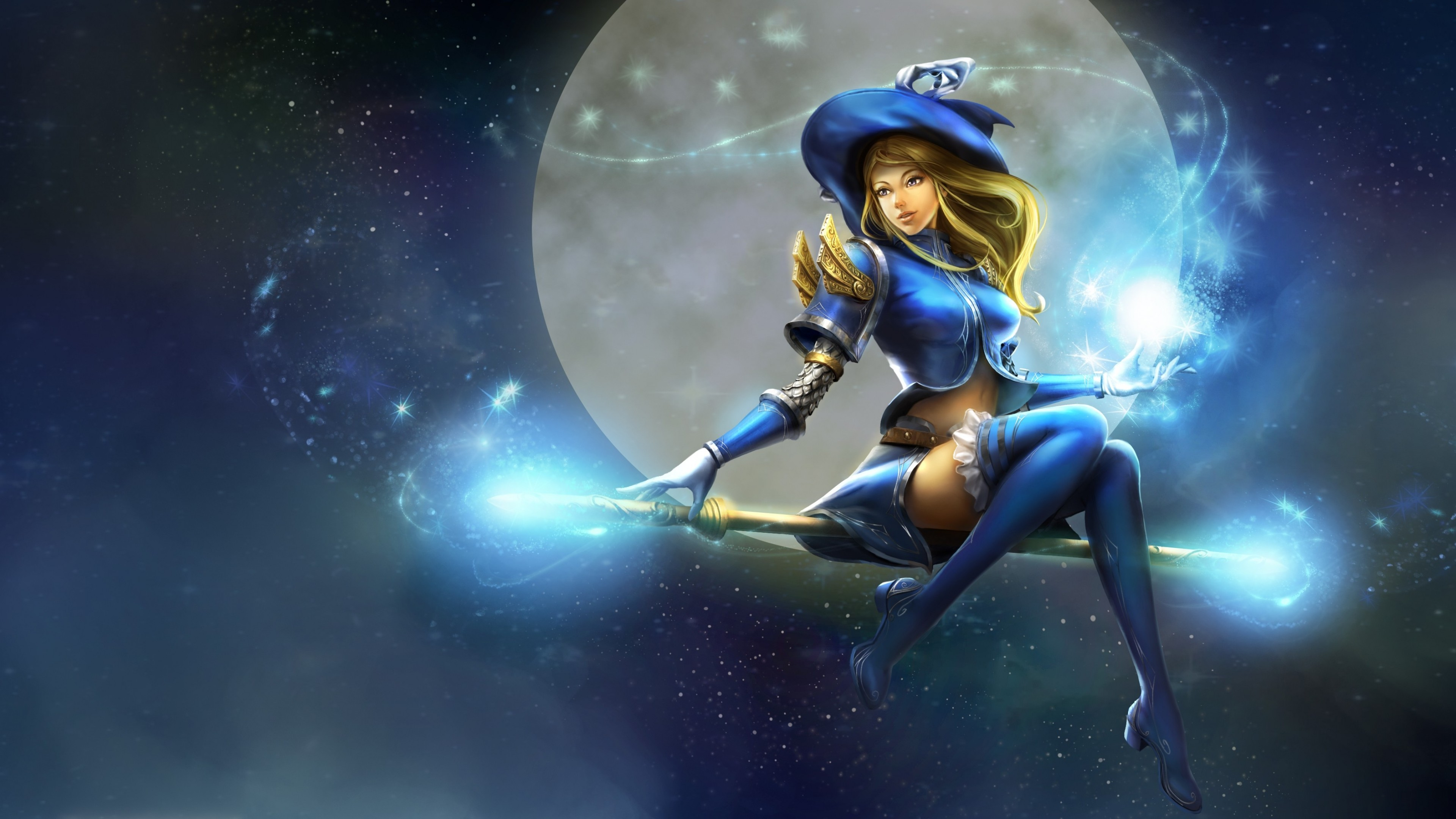 Cute Apple Logo Wallpaper Lux Moon Staff Witch Hat League Of Legends Hd Games 4k