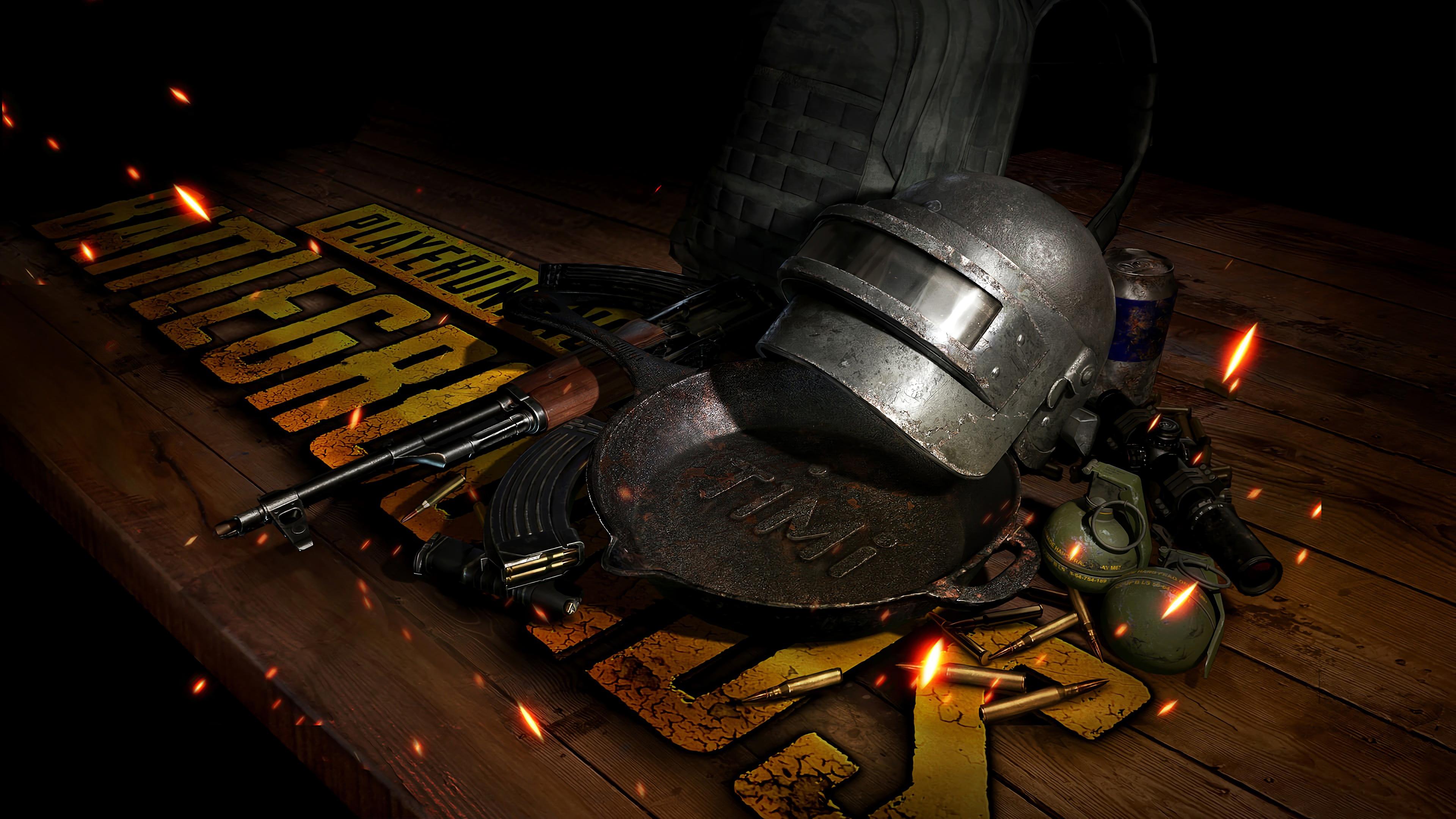 Pubg Wallpaper 4k Pubg Weapons Helmet 4k Hd Games 4k Wallpapers Images