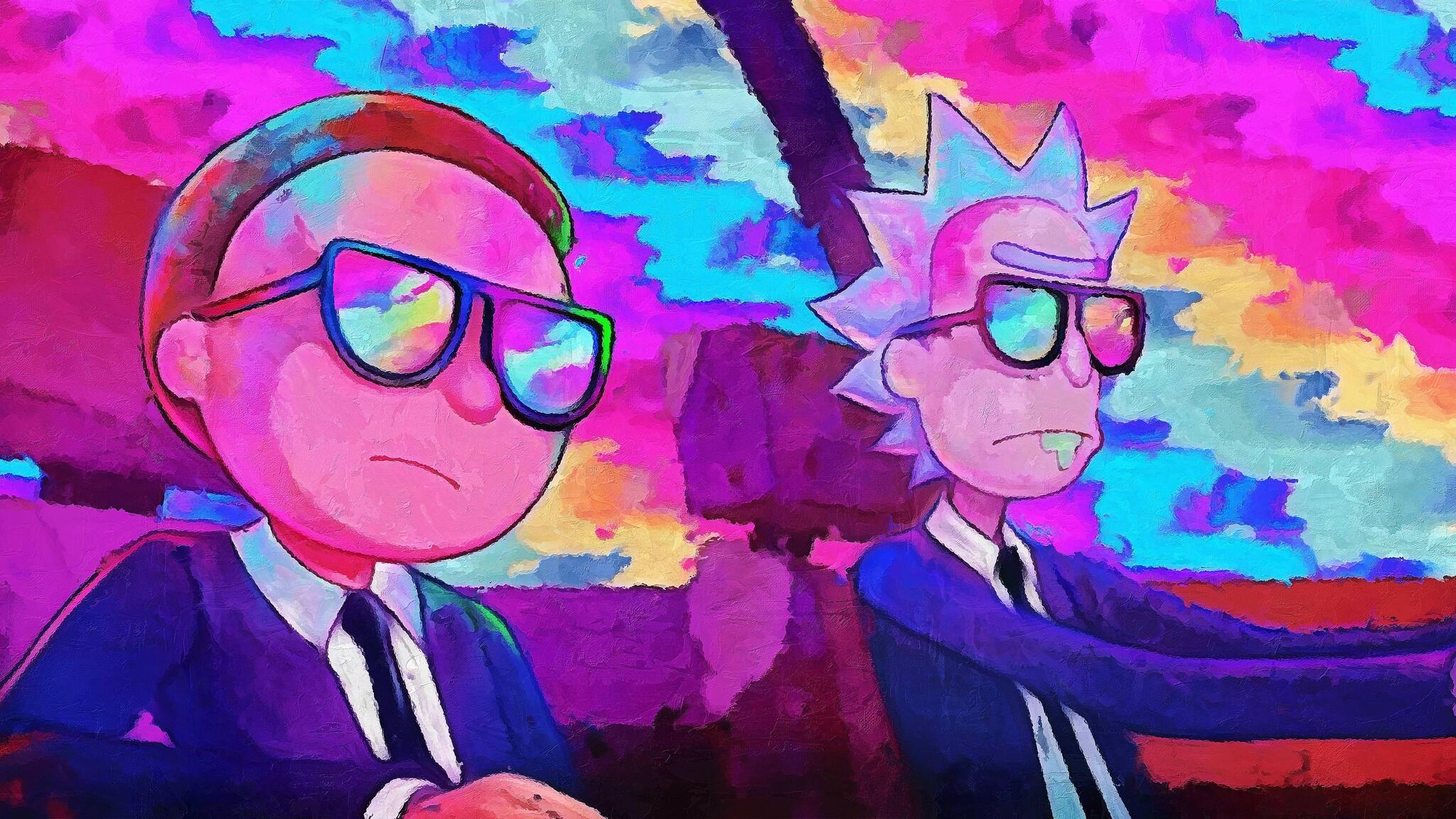 Android 3d Engine Live Wallpaper 2048x1152 Rick And Morty 5k Artwork 2048x1152 Resolution