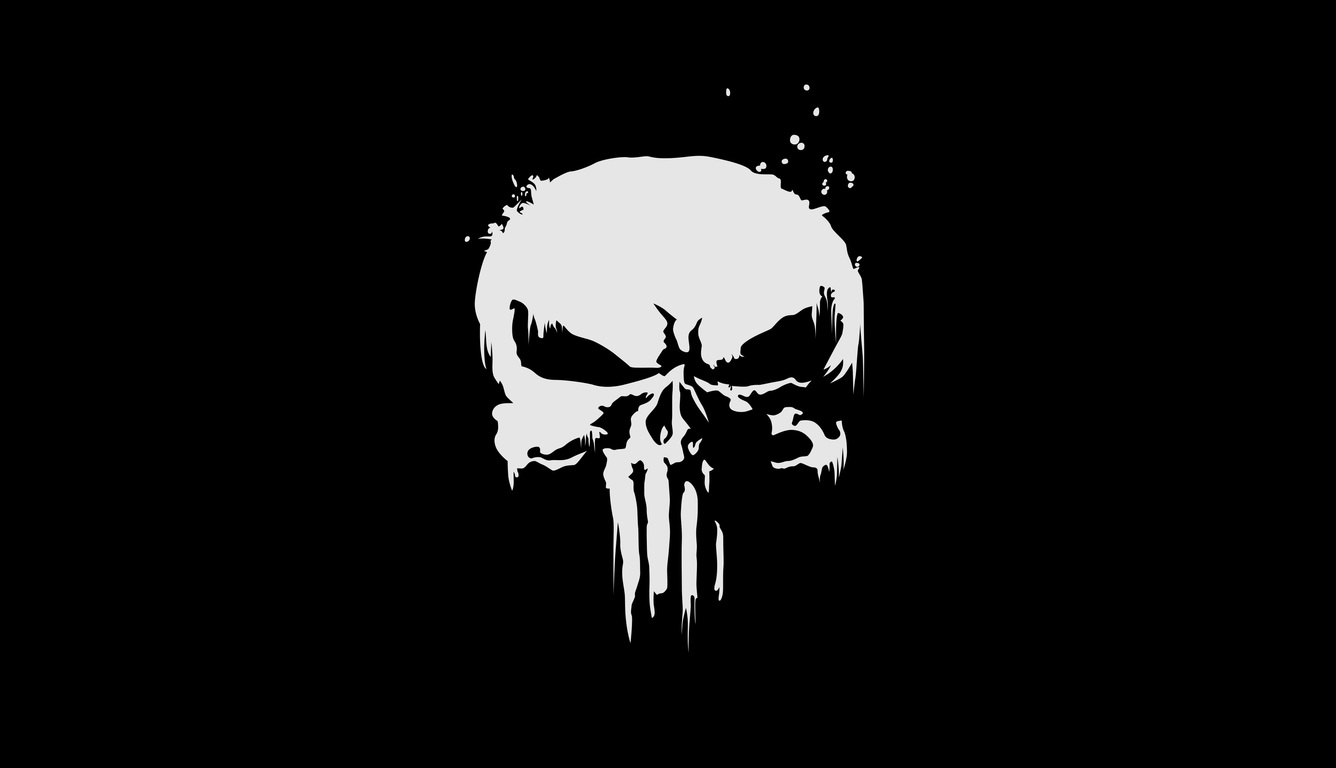 Cool 3d Skull Wallpapers 1336x768 The Punisher Logo 4k Laptop Hd Hd 4k Wallpapers