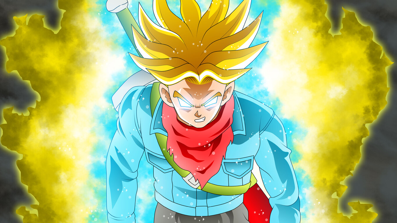 Wallpaper Dragon Ball 3d Hd 1366x768 Trunks Dragon Ball Super 1366x768 Resolution Hd
