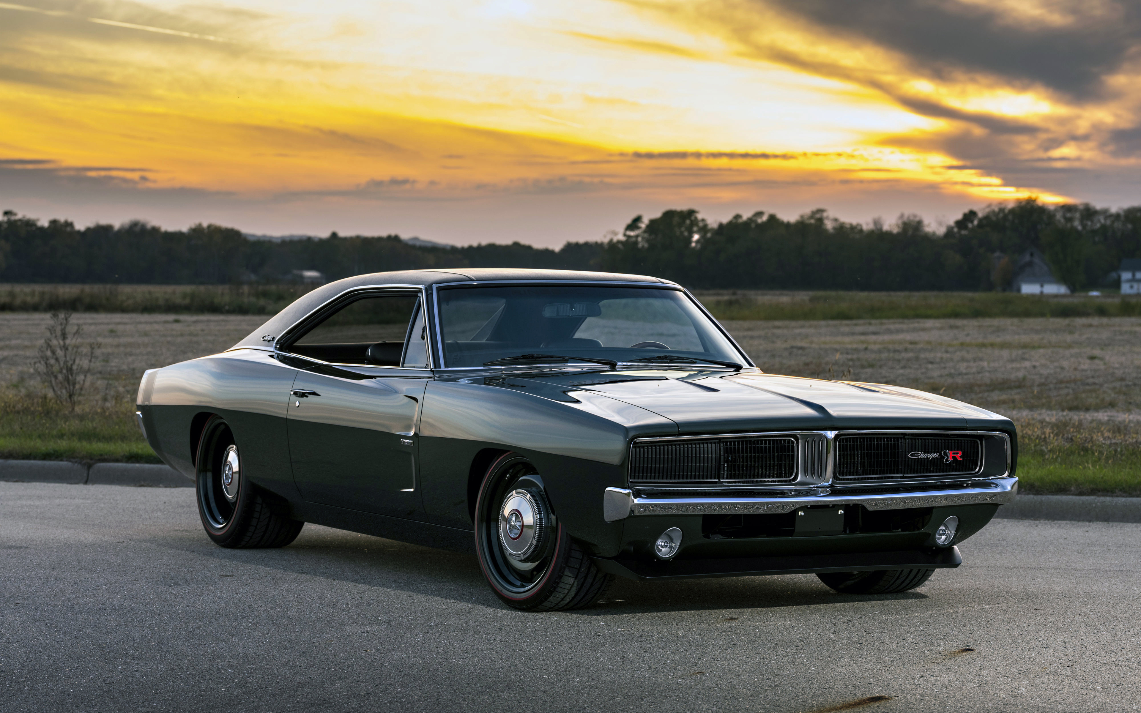 American Muscle Cars Hd Wallpapers Download 3840x2400 1969 Ringbrothers Dodge Charger Defector Front